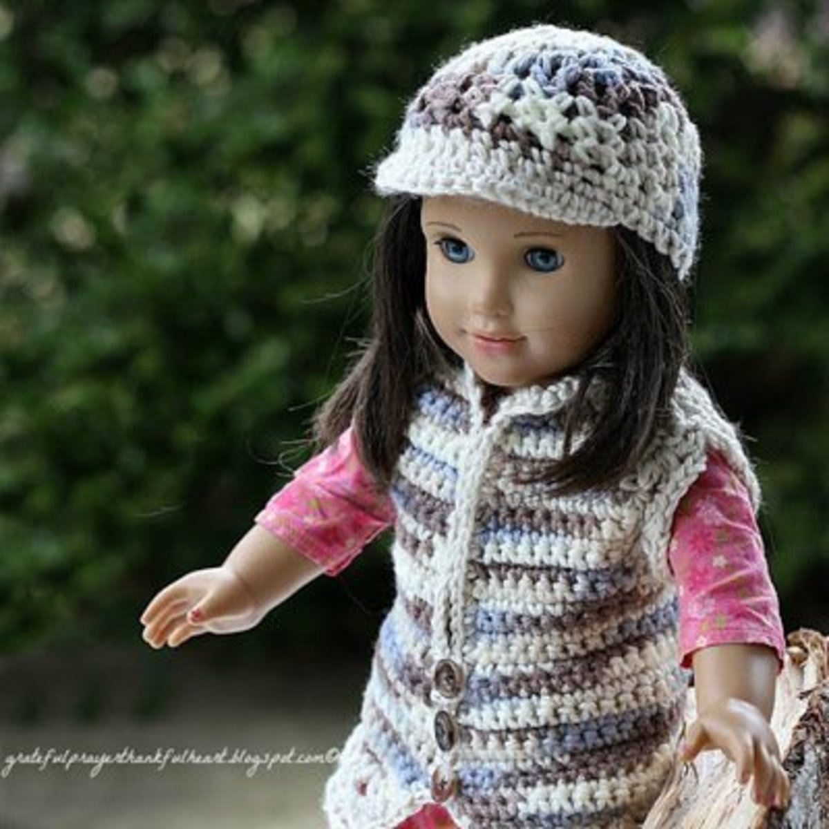 Crocheted sweater and cap