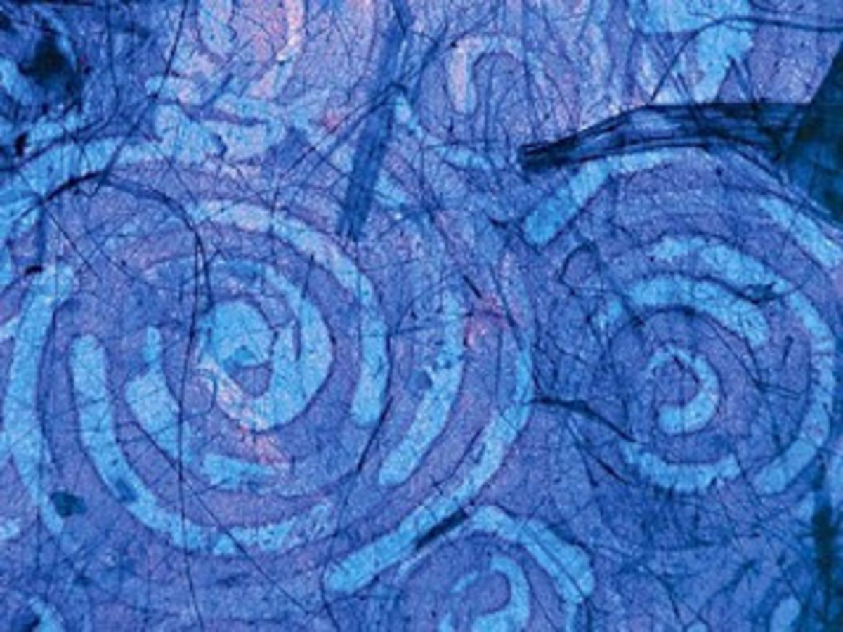 Paper design in batik style