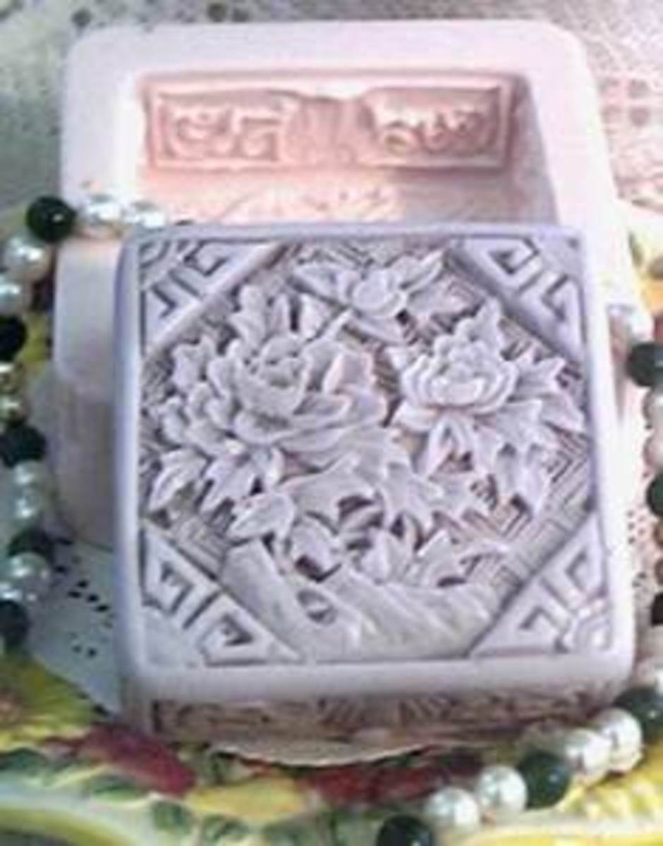 A beautiful soap mold & quite an inspiration to make your own soap!