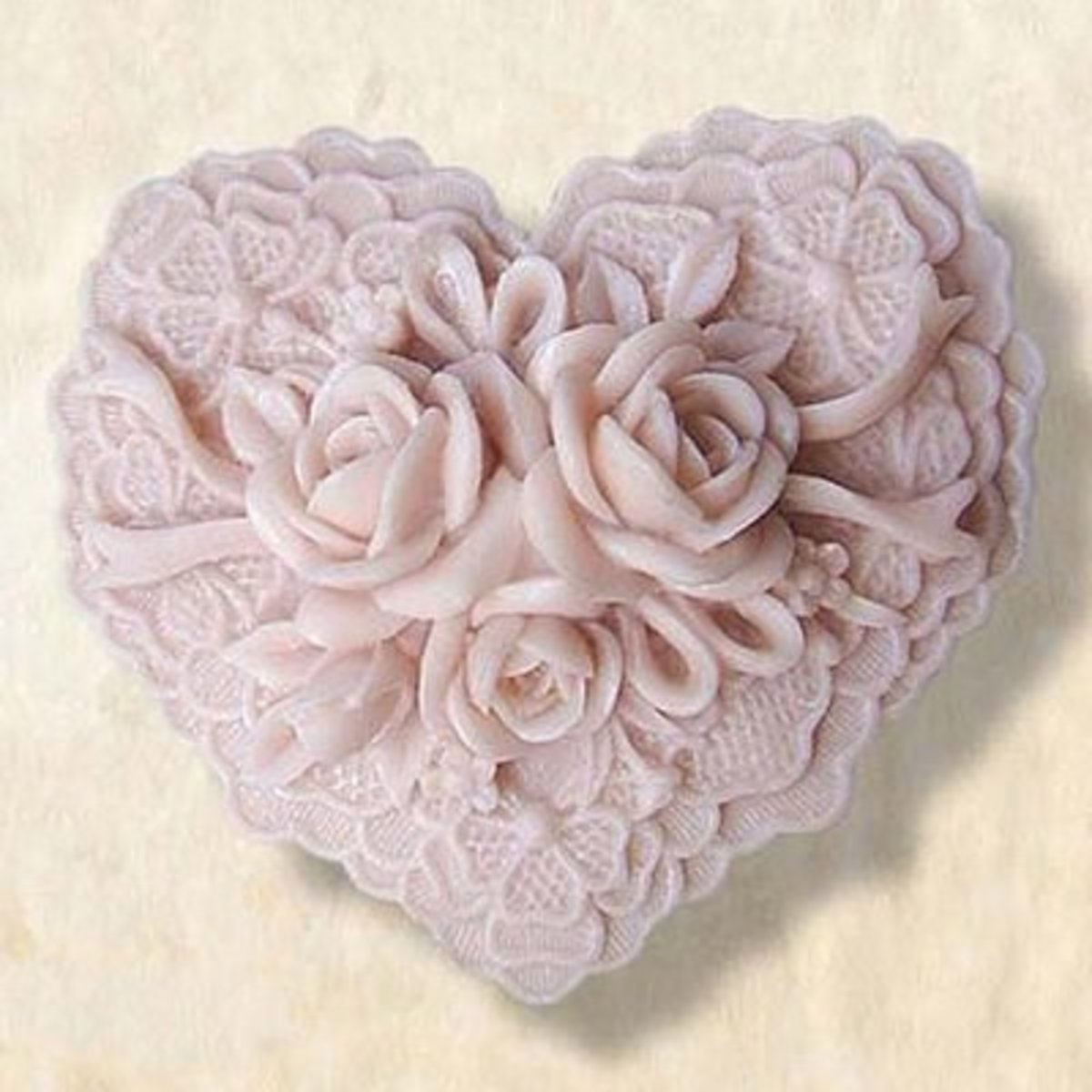 Lovely heart shaped soap mold