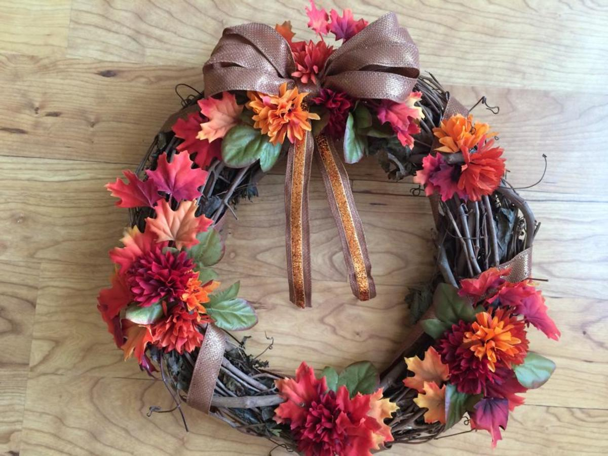 Fall grape vine wreath