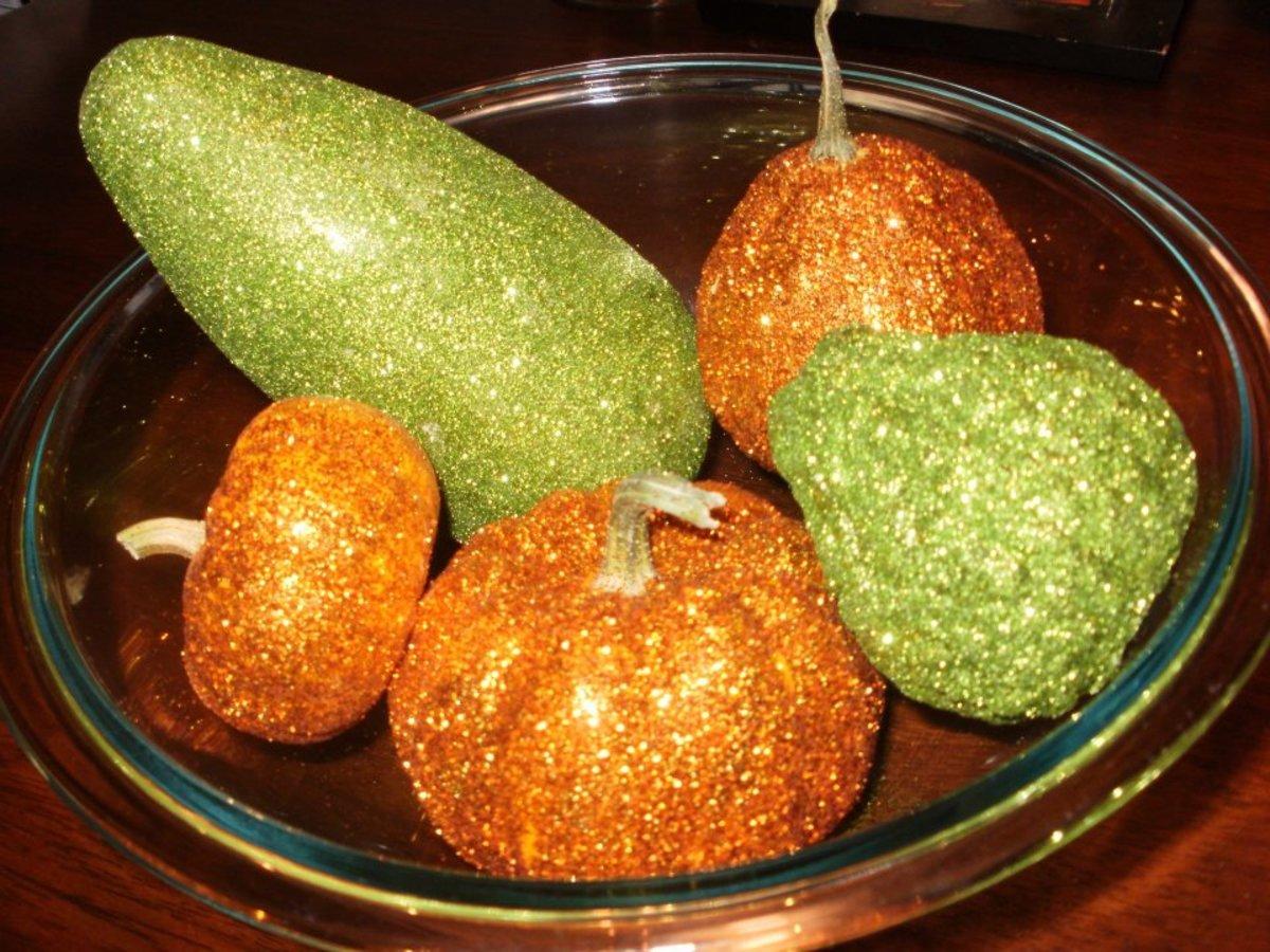 glitter gourds