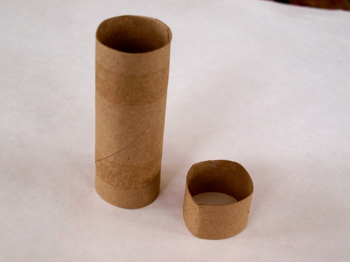 Cut the toilet paper roll.