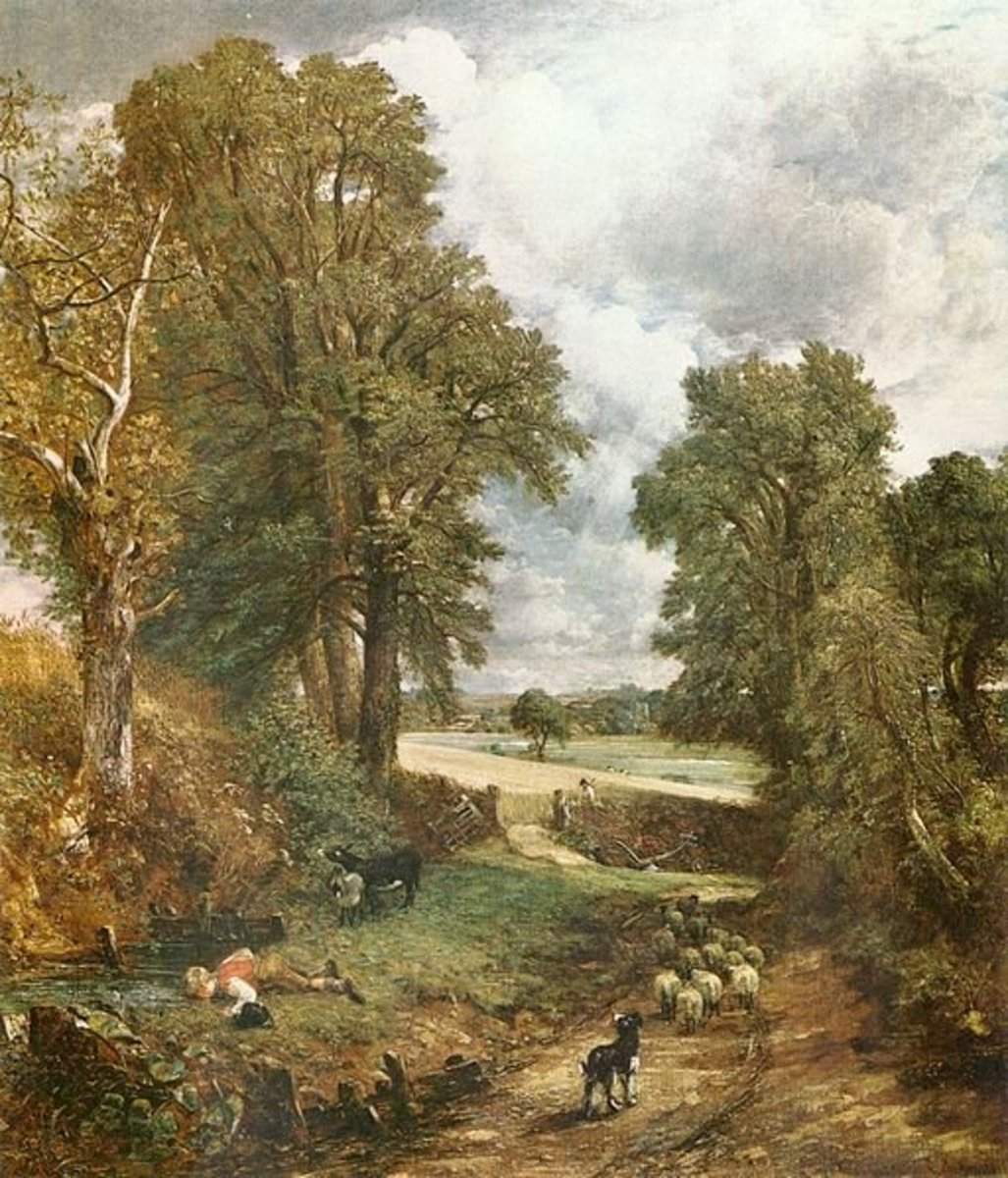 With a few well placed sky holes John Constable rendered the structure of these trees. The Cornfield - 1826, John Constable.