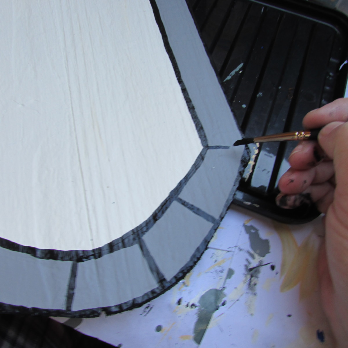 Painting the Arches of the Fairy Door