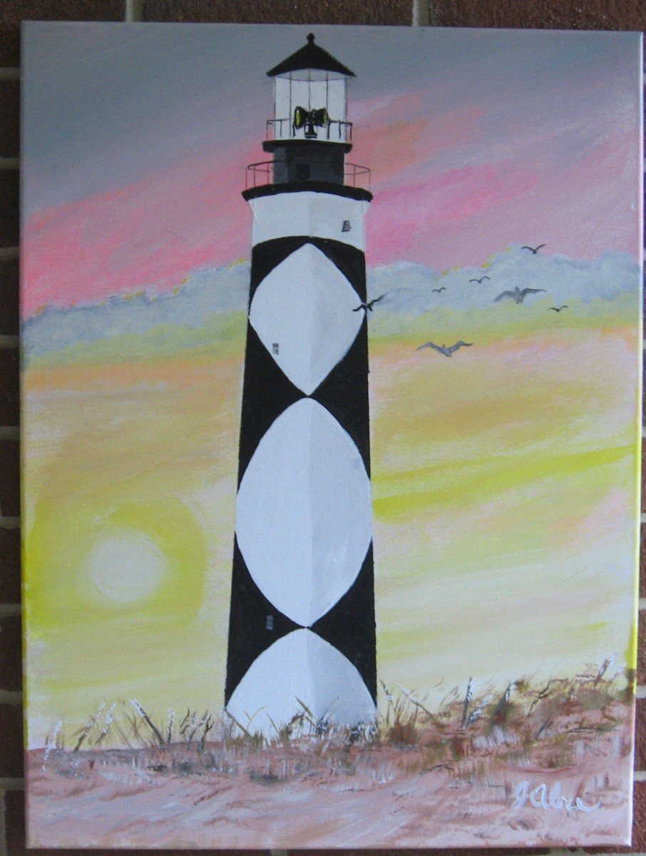 Cape Lookout Lighthouse - Painted by Hubby