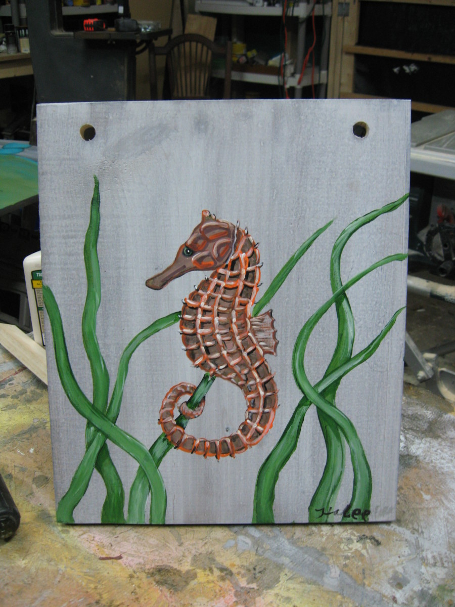 Seahorse I painted