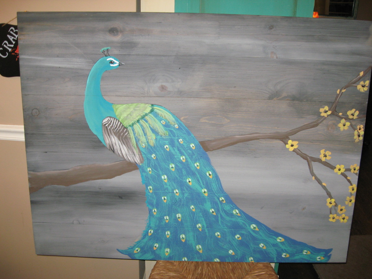 Peacocks are great ideas for paintings!