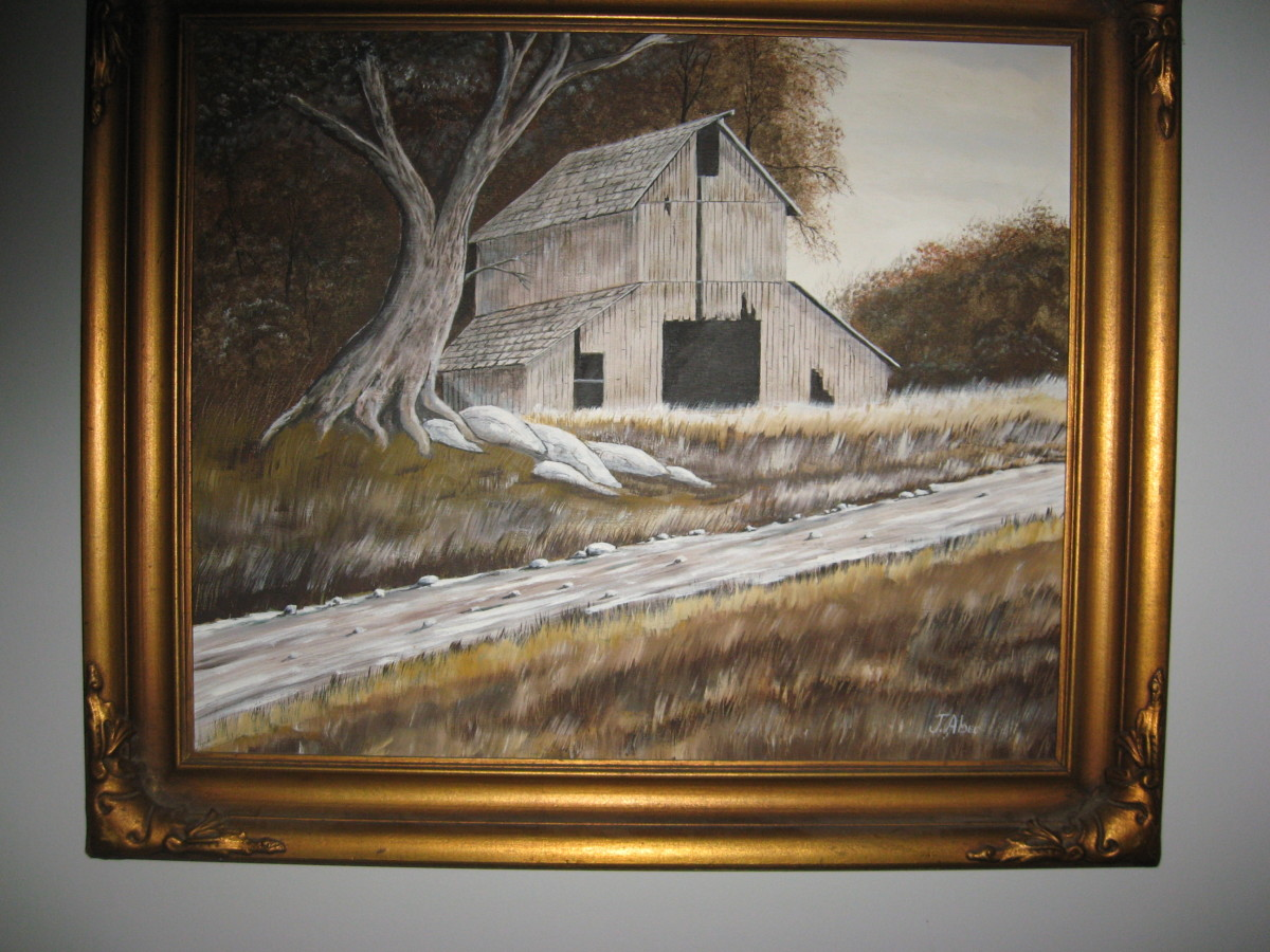 Old Barn Painting by hubby