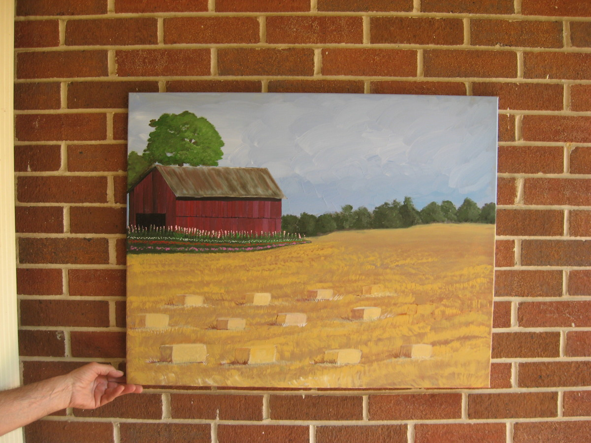 Hay field I painted