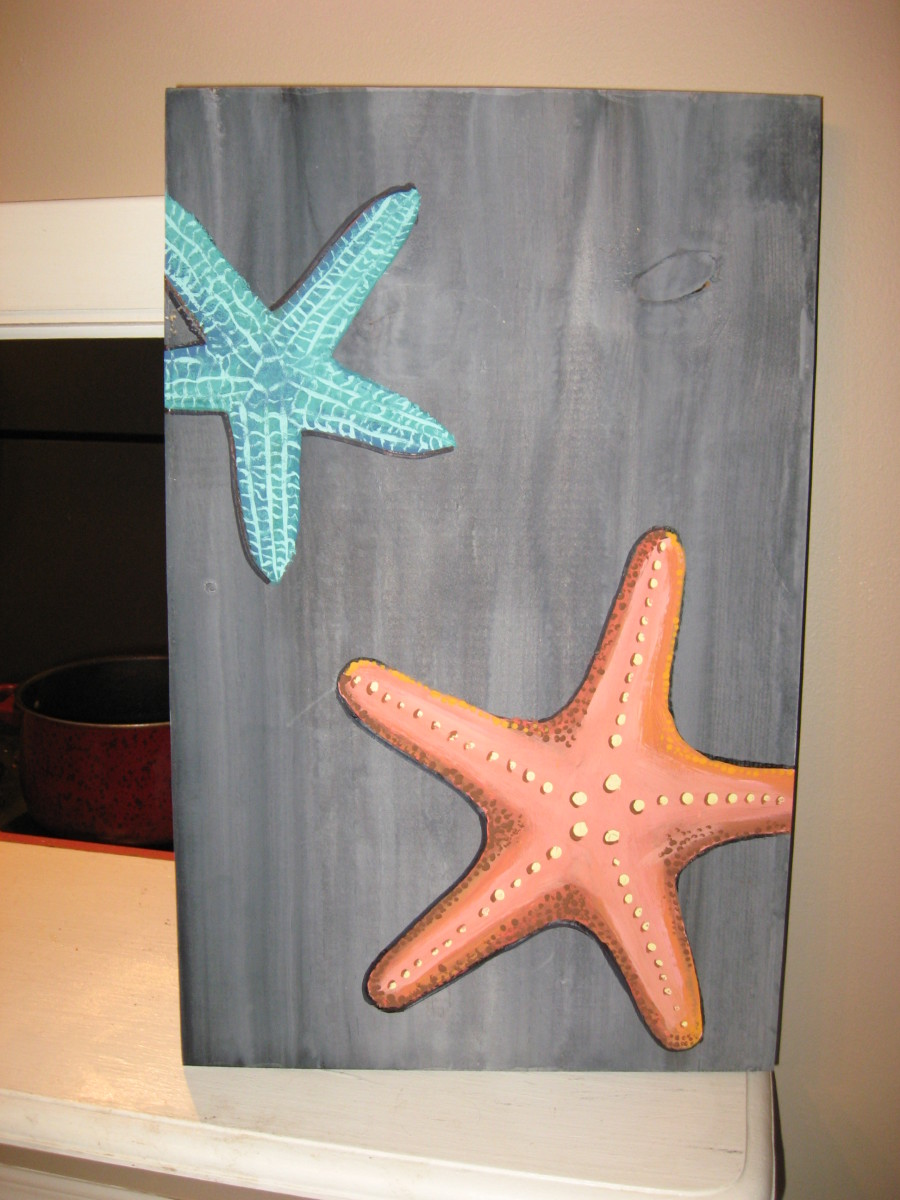 Starfish on Wood
