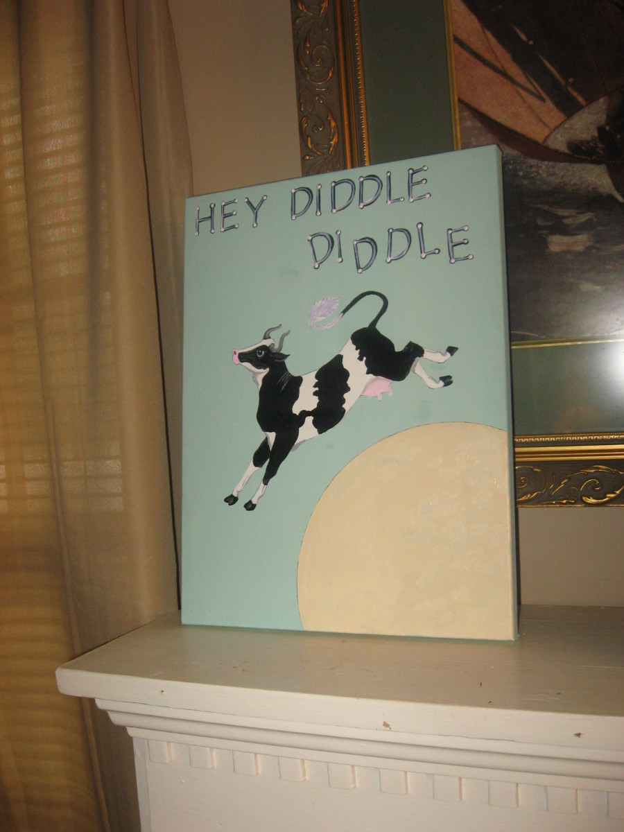 Custom Cow Painting I did for a nursery