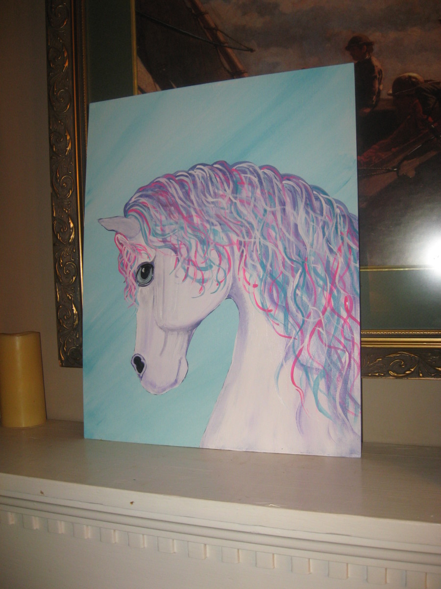 Colorful Horse Painting