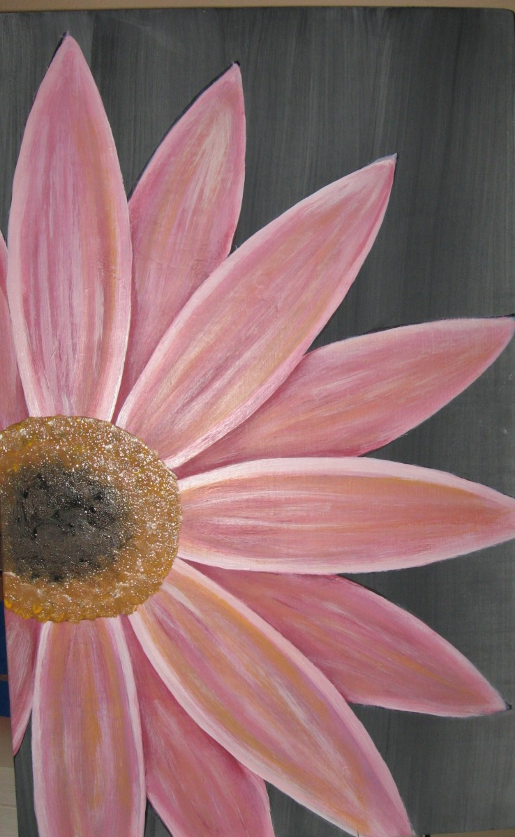 Pink Daisy Painting