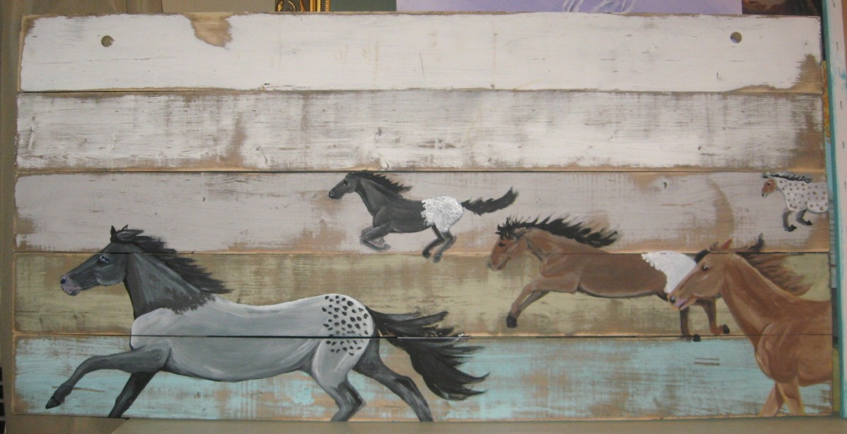 Horse Painting on Wood