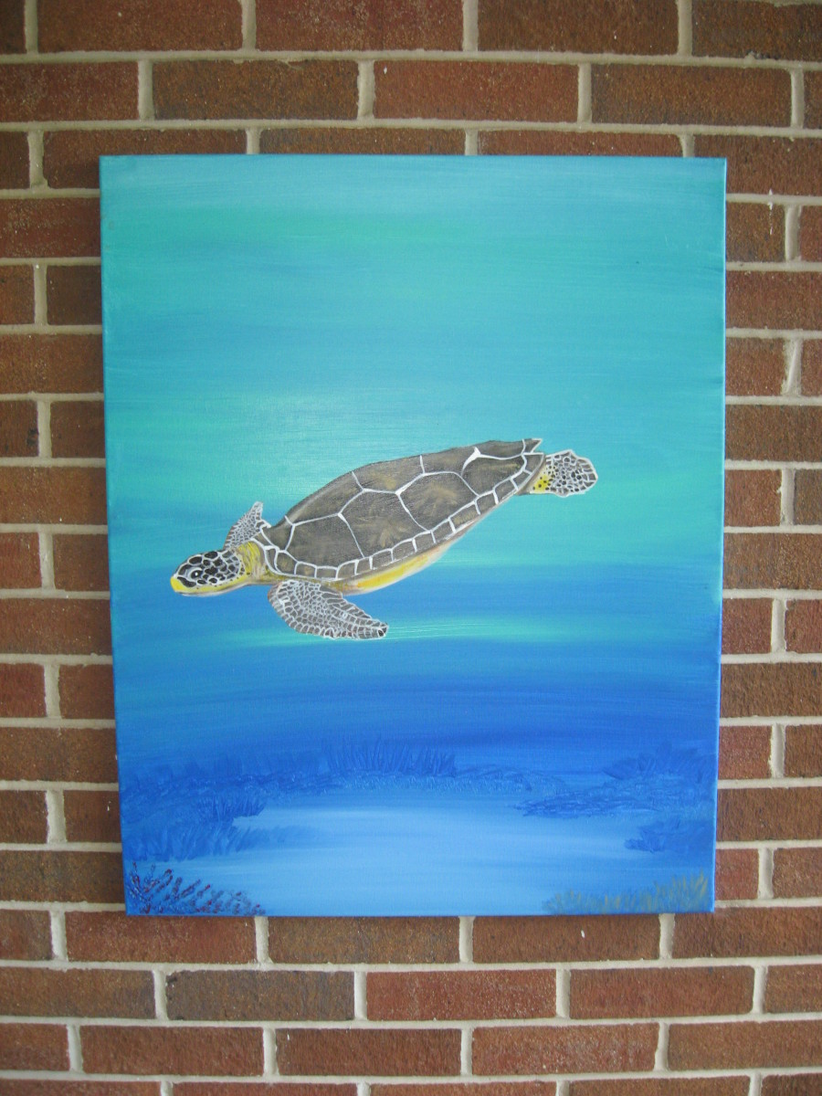 I've been selling a lot of sea turtle paintings lately!