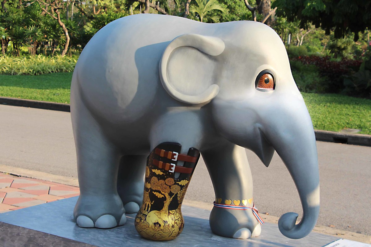 'We Love Mosha Bangkok' by Thiti SuwanBaby is undoubtedly the most important elephant in the parade, the only one to feature in all parades in all cities, and the inspiration behind the entire enterprise.