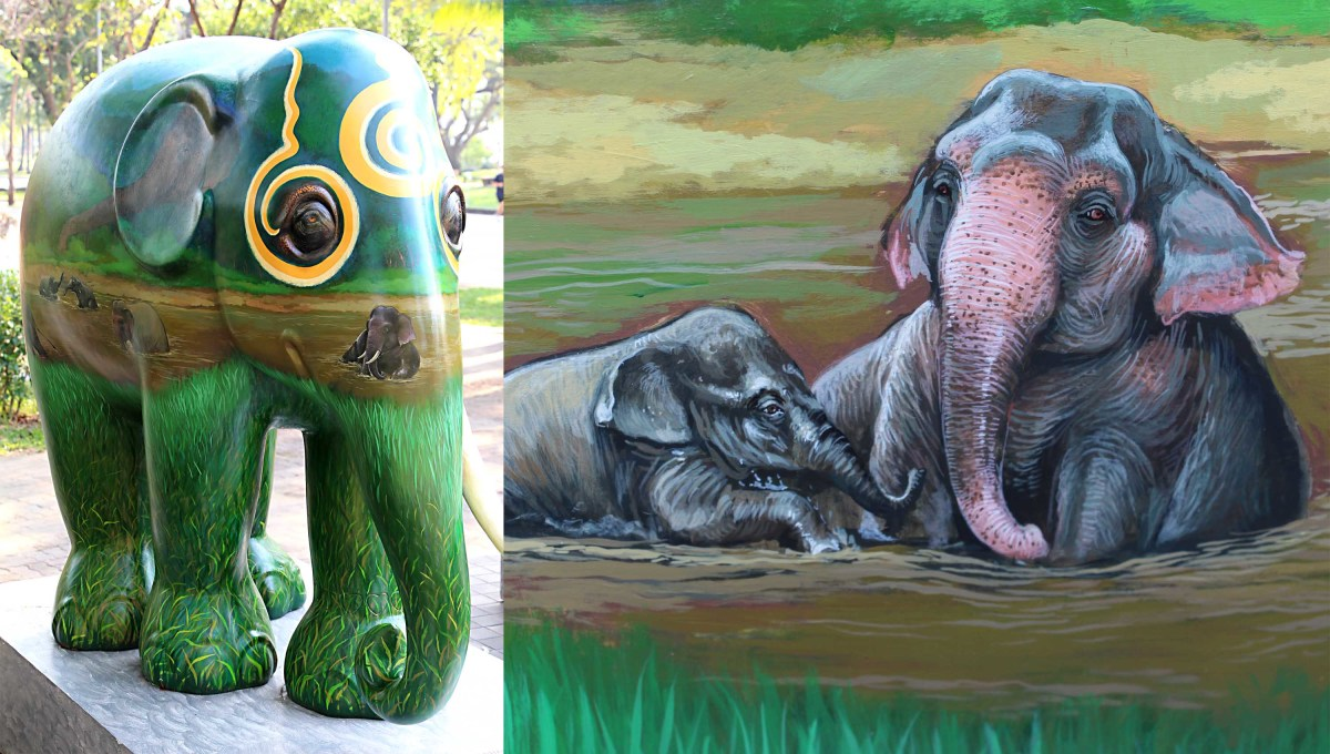 'Tusk' is an elephant model created to represent the need for conservation. Together with habitat destruction, the ivory trade for elephant tusks is the main issue in the conservation of elephants.The model features painted elephant designs