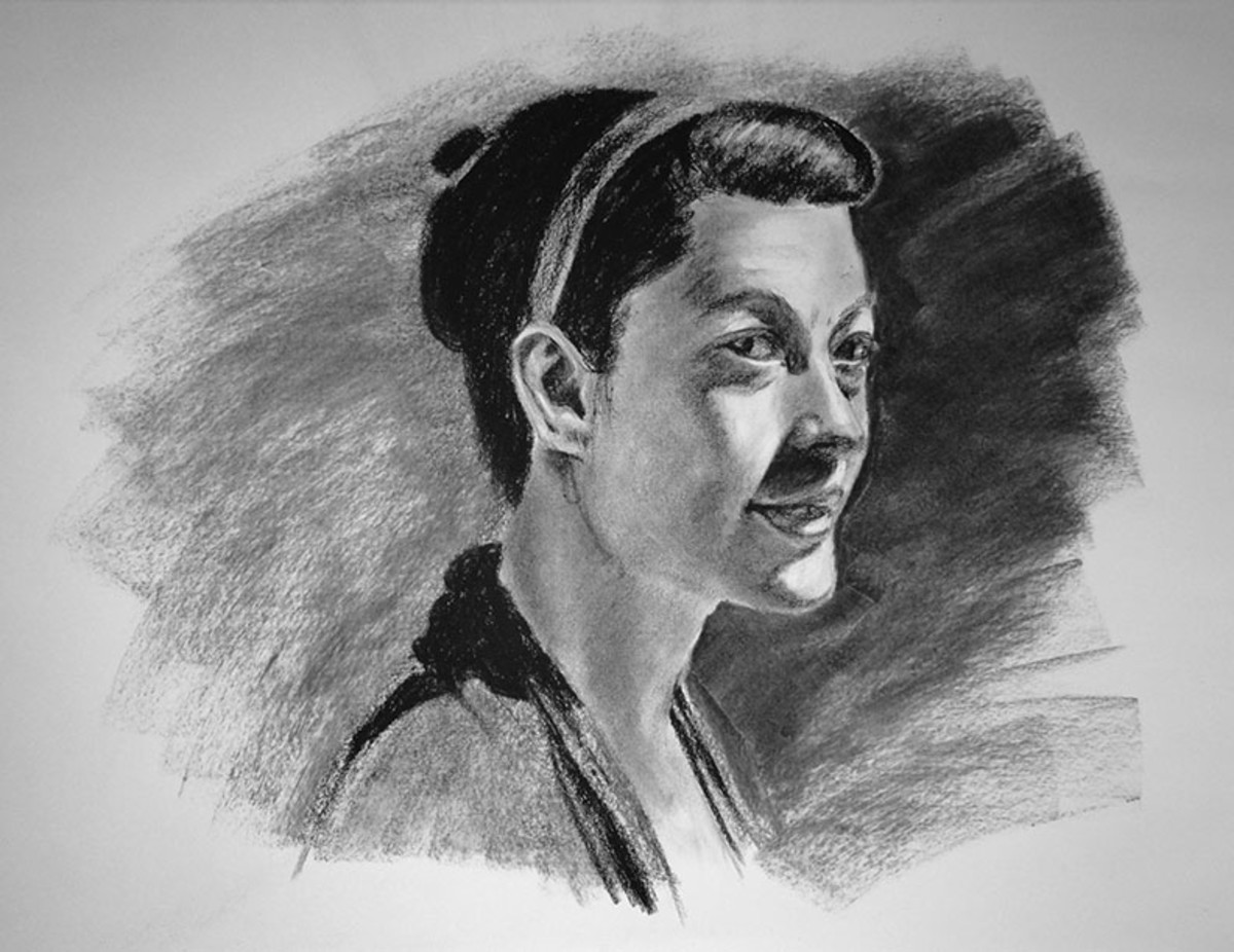 Face in charcoal