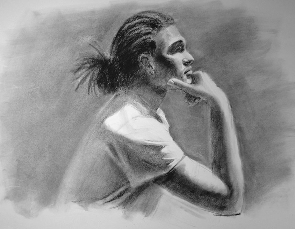 Study in charcoal.