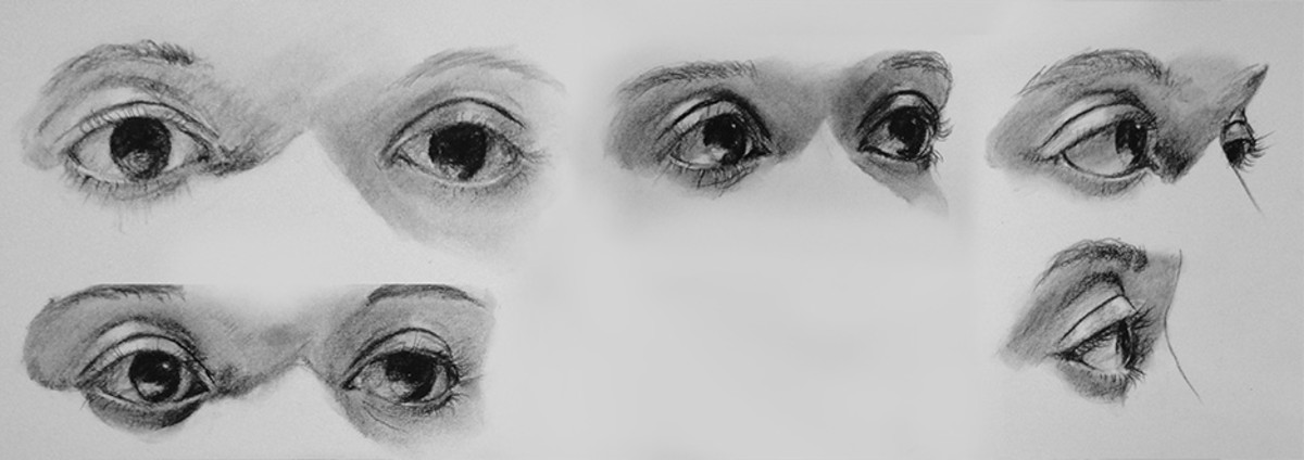 Charcoal study of eyes.