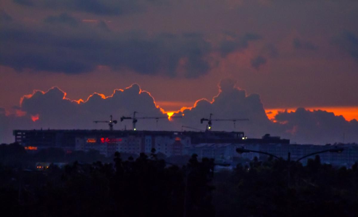 Gloomy Sunset.