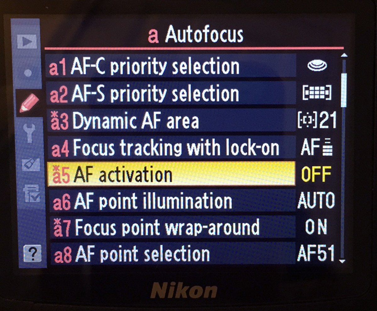 Select A5 (AF Activation)