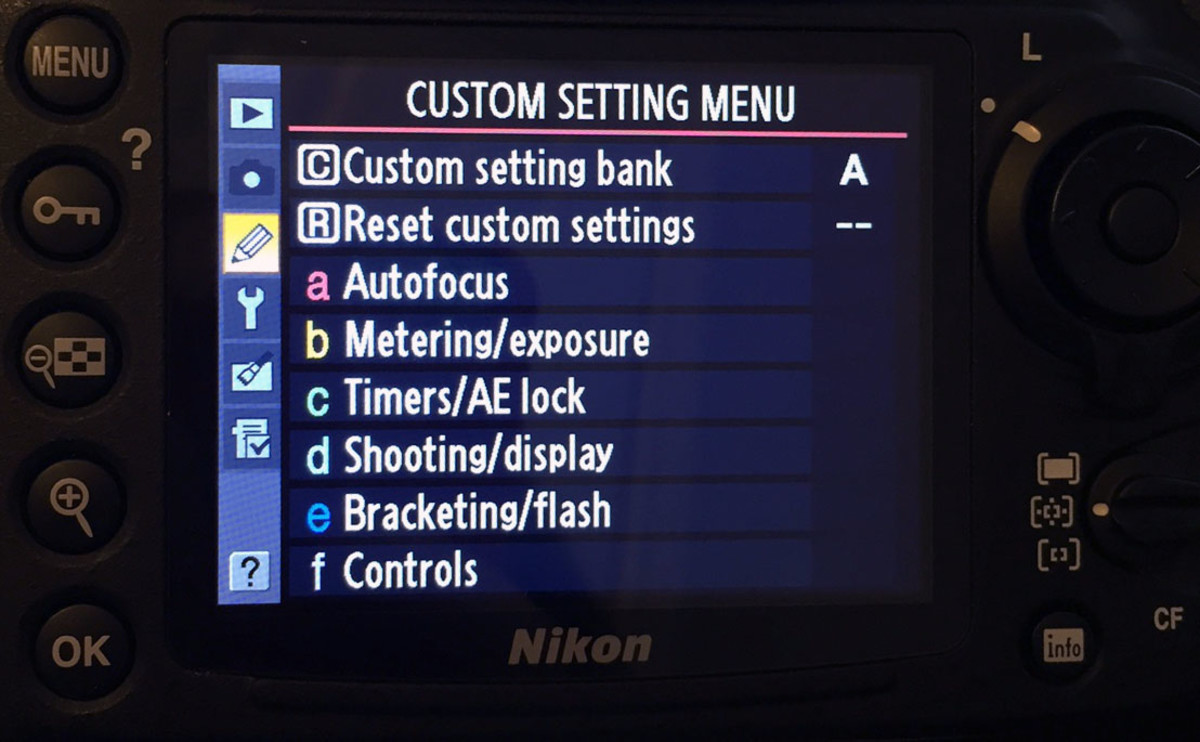 Custom Settings Menu (the pencil icon)