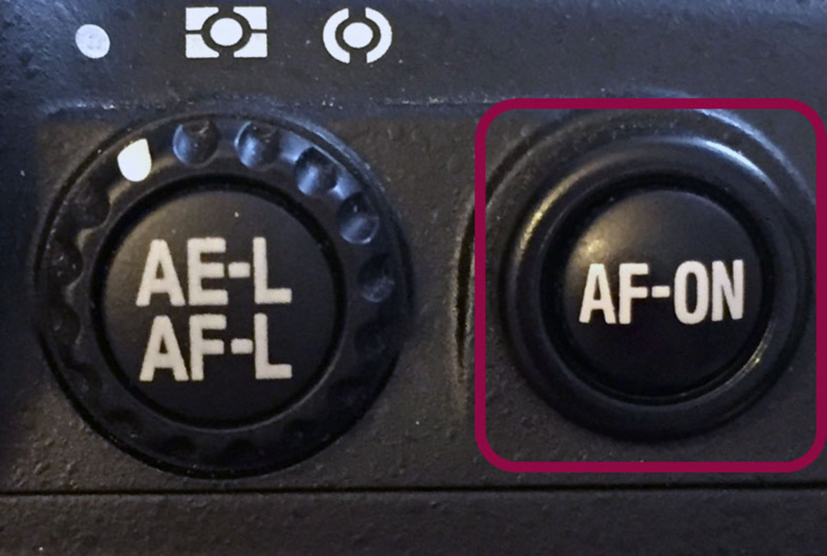 Use this button instead of pressing the shutter half way down