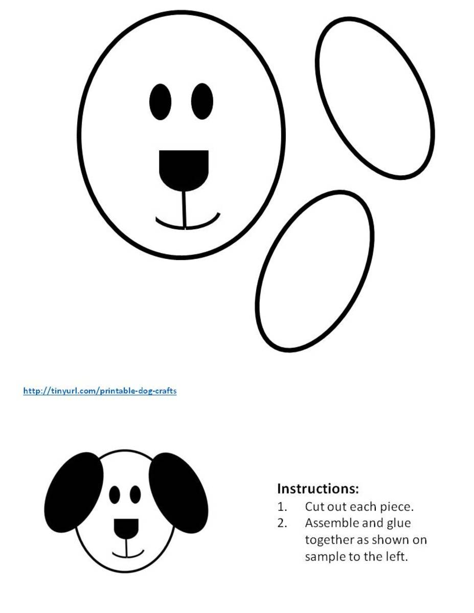 Pattern for making a dog from ovals