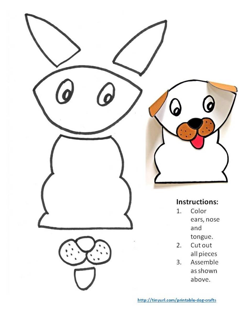 Printable Dog Patterns With Simple Shapes For Kids Crafts Feltmagnet