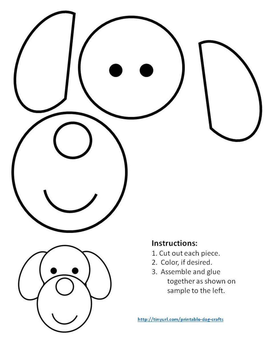 Pattern for dog made with circles and ovals