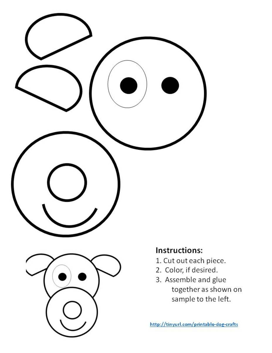 Pattern for dog made with circles