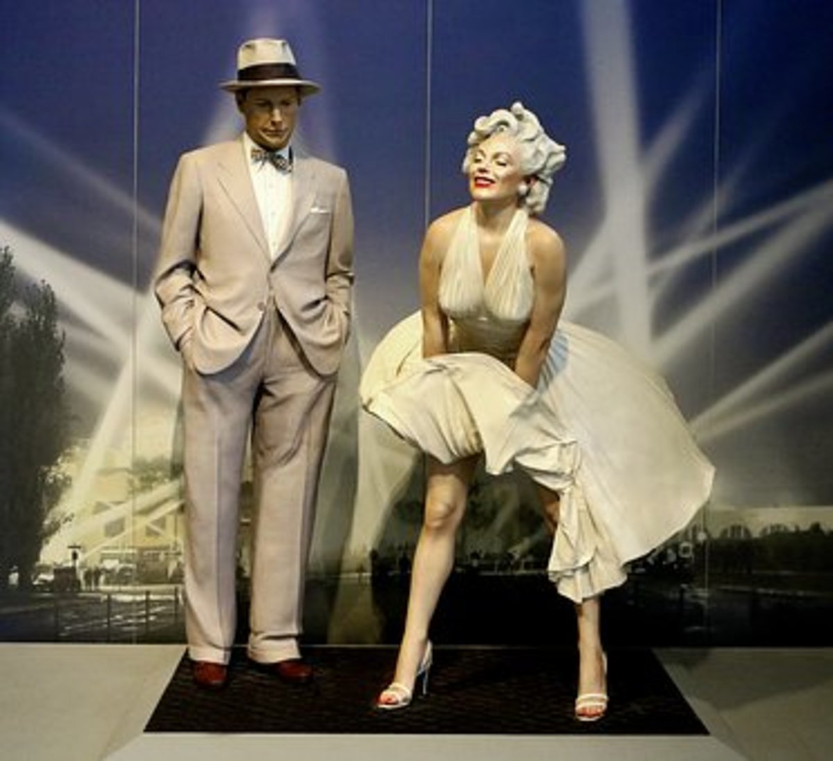 Statue of Marilyn Monroe as she appeared in the 1955 movie, The Seven-Year Itch.