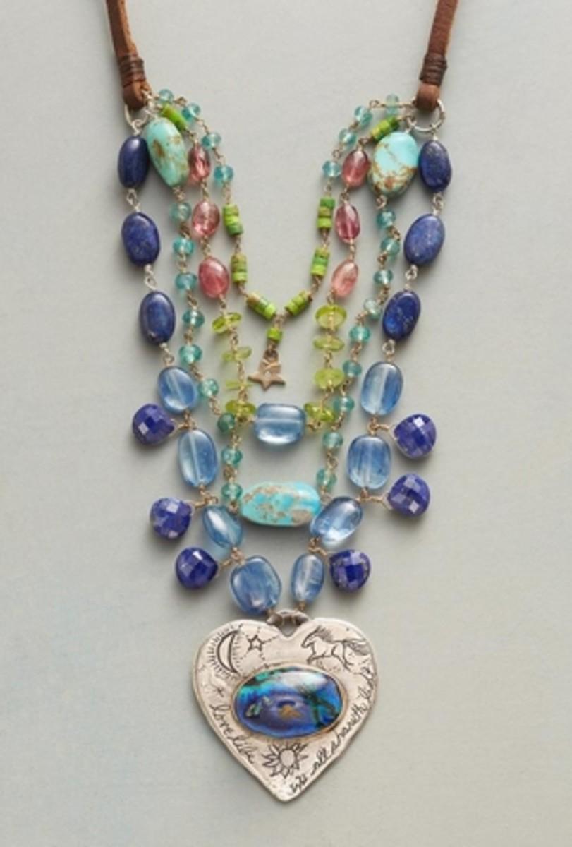 Boho-style layered necklace from Sundance catalog