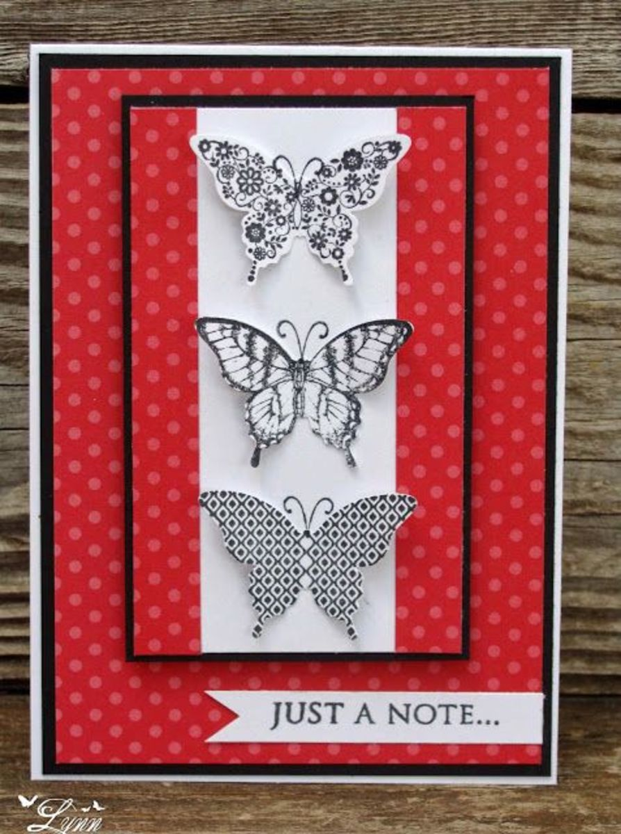 Beautifully stamped and die cut butterflies