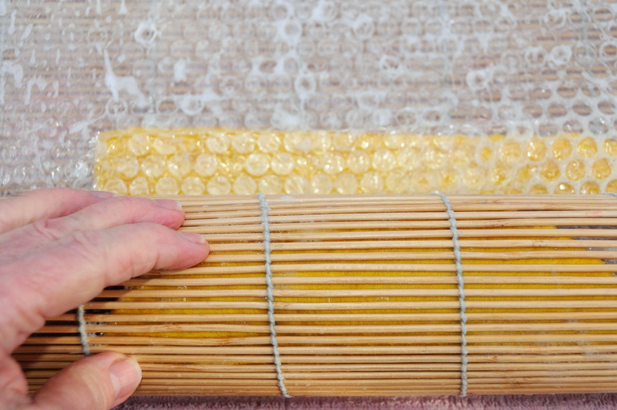 Roll Inside a Bamboo Blind.