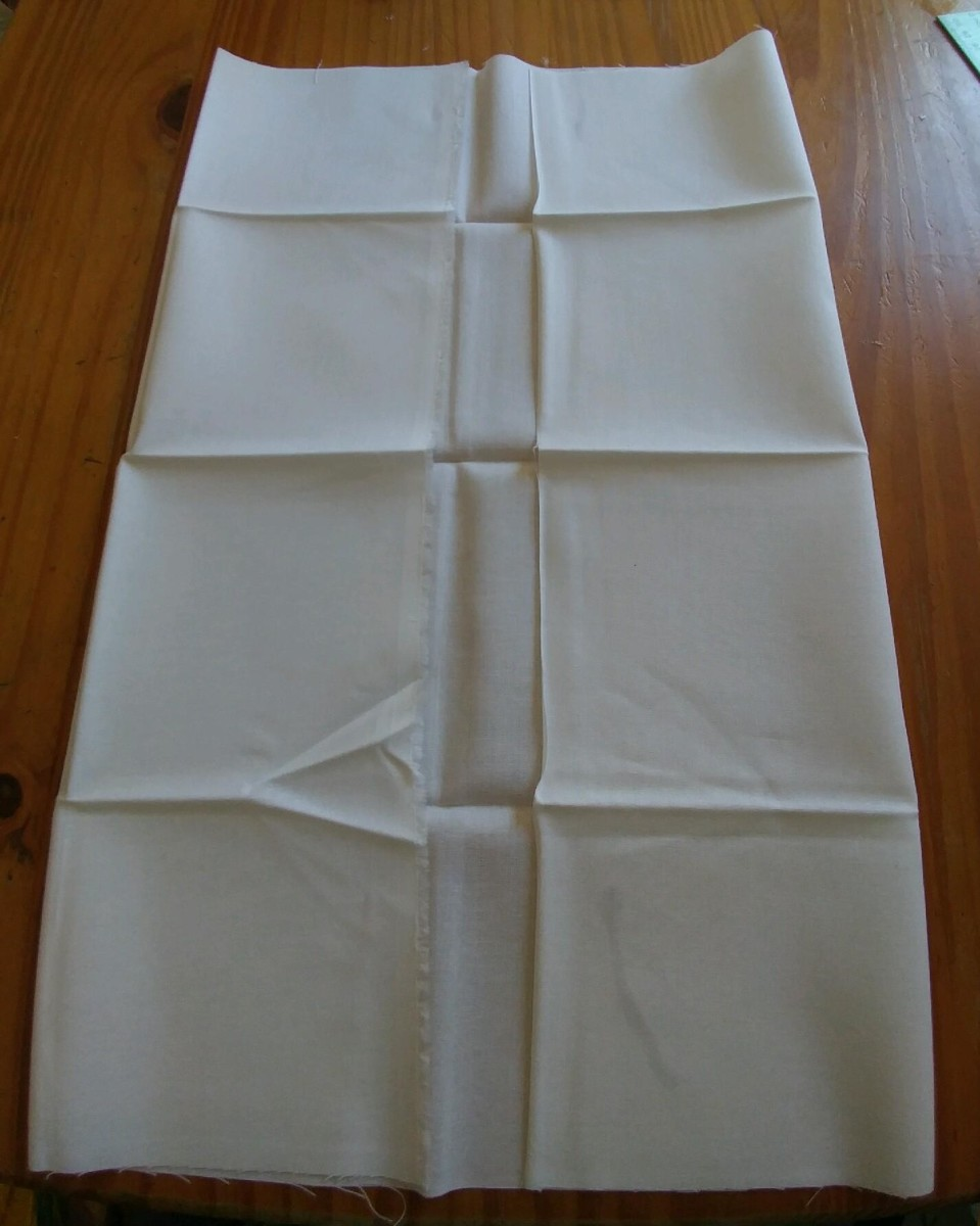 Any size of material will do, as long as it the correct measurement to be folded into an envelope.