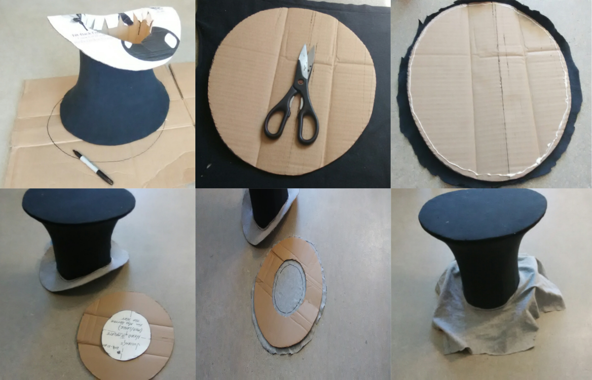 By using the hat itself as a template, transferring  patterns become much easier.
