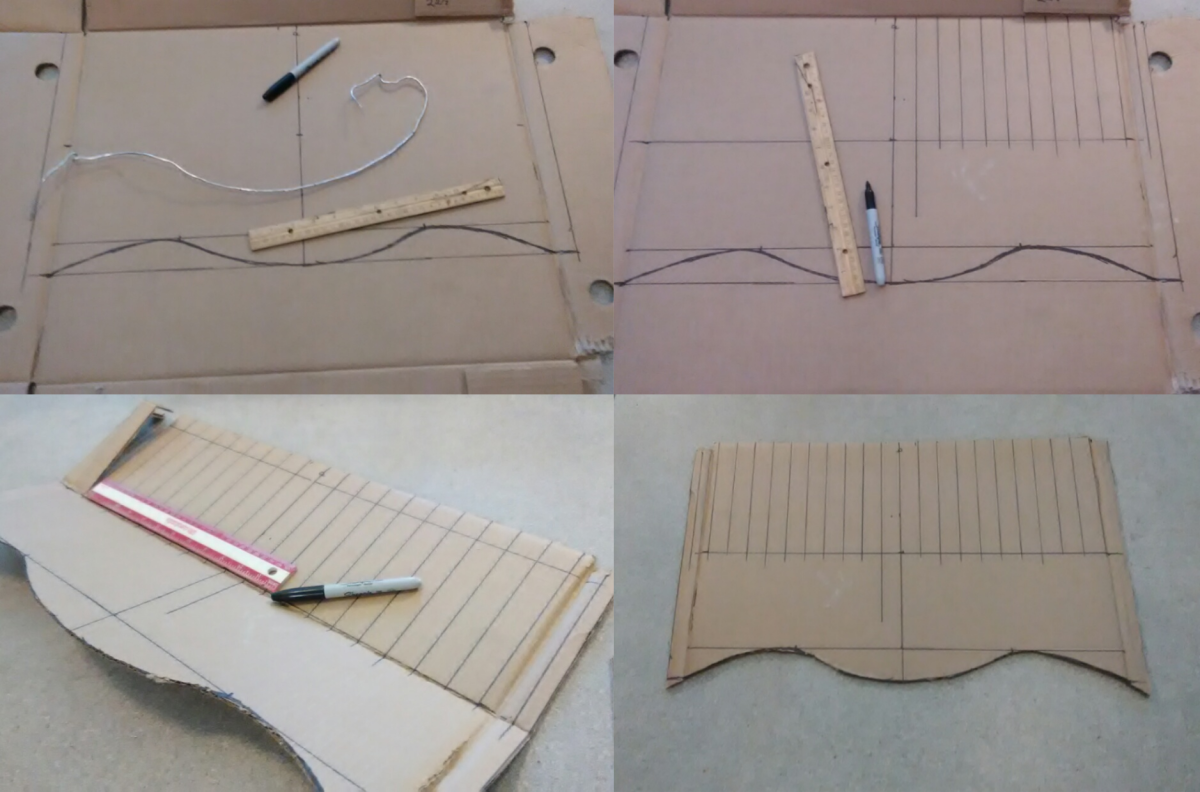 Rather than measure out all of the cut lines, I simply use the width of a ruler to create my one inch wide lines.