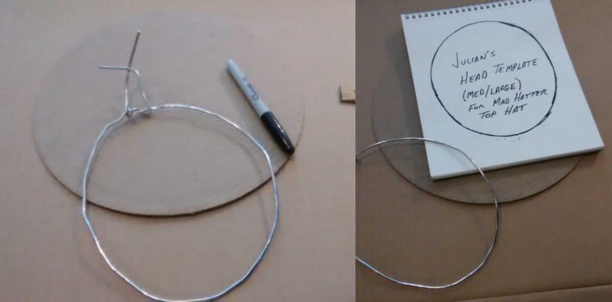 Using a piece of flexible wire to create patterns and large curves makes it easy to transfer shapes onto paper.