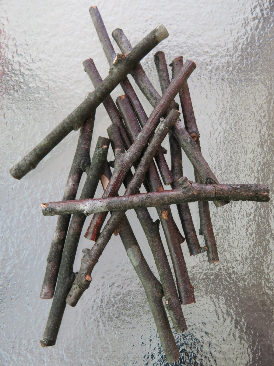 Sticks for making a rustic twig star