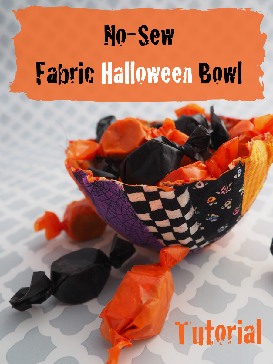 What better way to use up some fabric scraps than this DIY Halloween bowl.  This tutorial is easy to follow with plenty of photos.