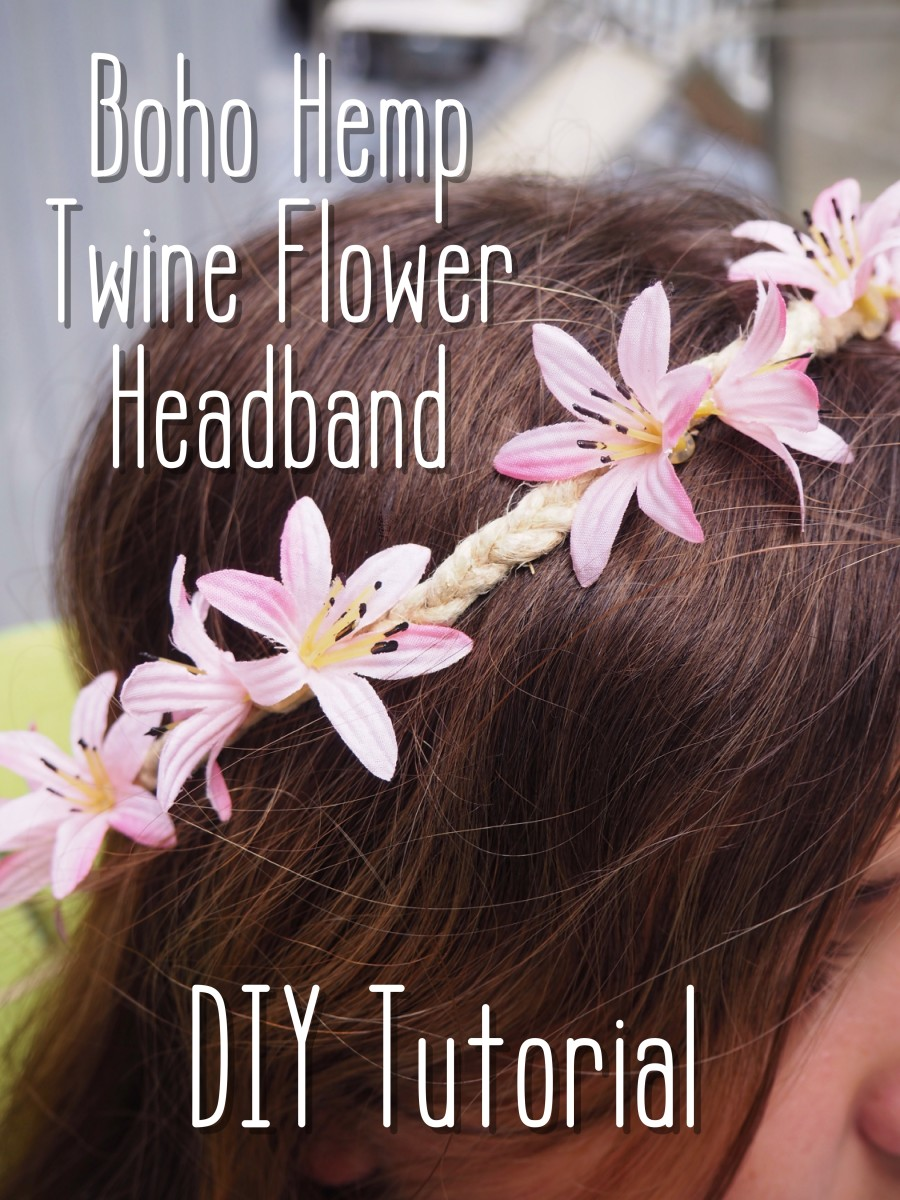 DIY Boho braided flower headband tutorial.