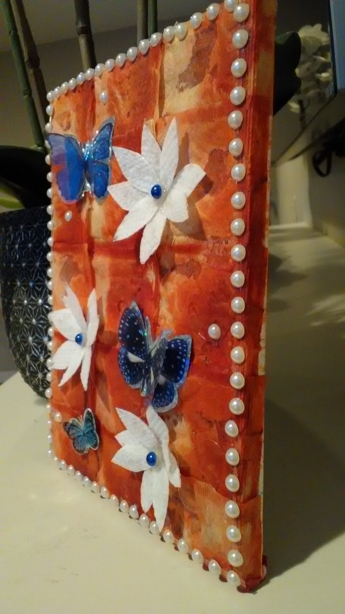 recycled-tea-bags-tea-bag-wrapped-canvas-art