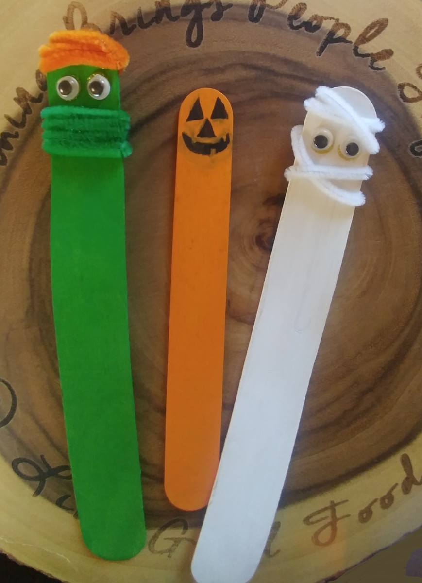 Have fun with these spooky bookmarks!