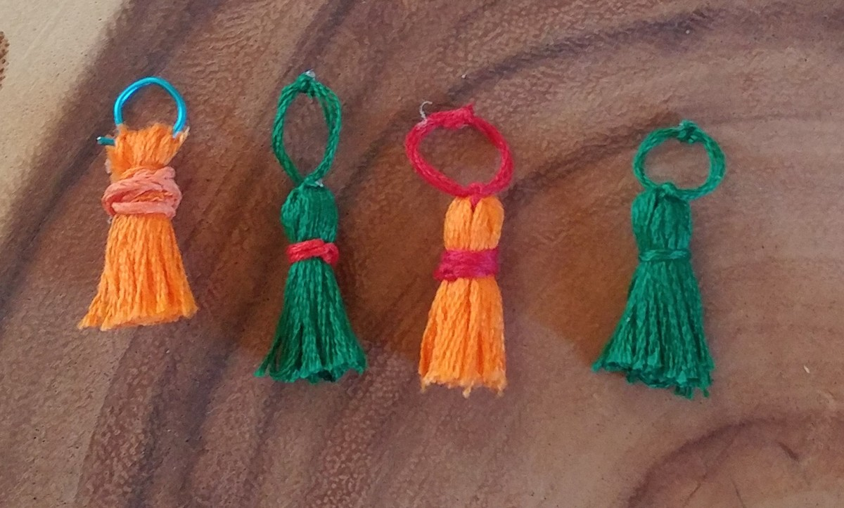 Here's a cute group of tiny tassels.