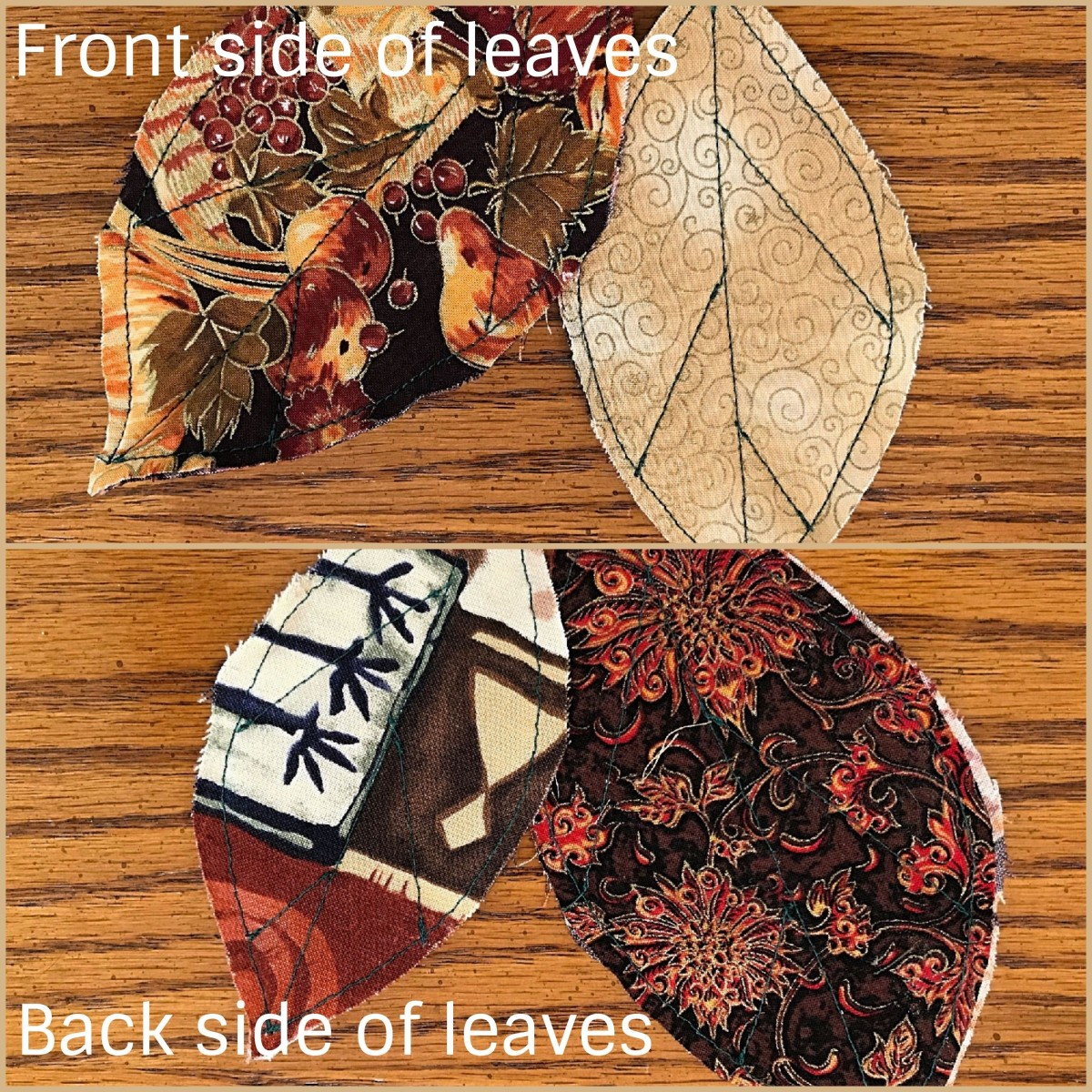 Assembling the leaves to make the runner.