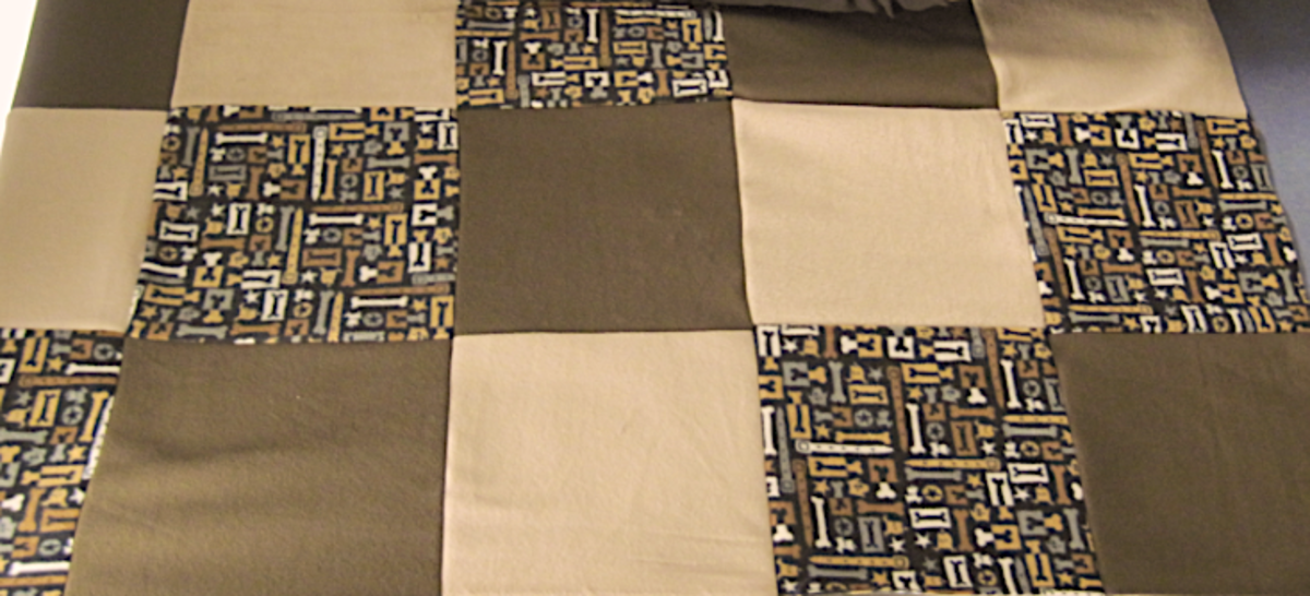 How to Make a Small Quilt Using Sweatshirts or Fleece