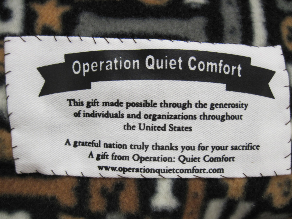 Official labels are available once you join the Operation Quiet Comfort small quilts project.